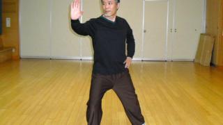 陳氏太極拳 懶扎衣の演武写真