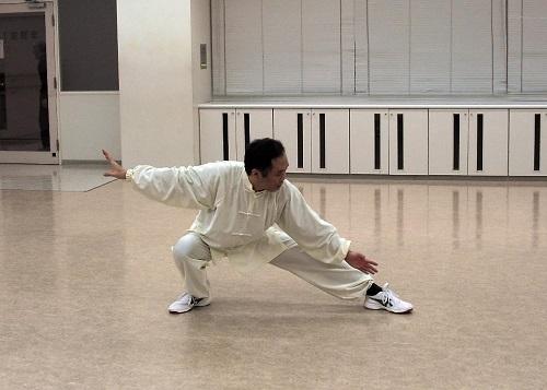 古典式太極拳 下勢の写真