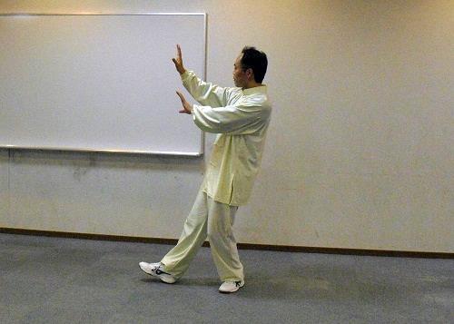 古典式太極拳 攬雀尾の写真