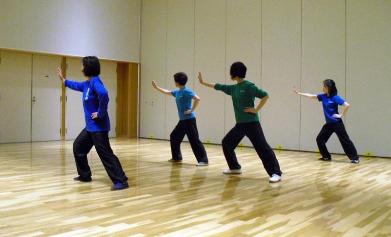女性会員による陳式太極拳の写真