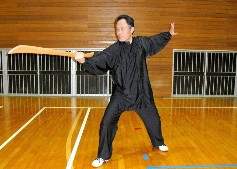 陳式太極拳の刀 青龍戯爪の写真