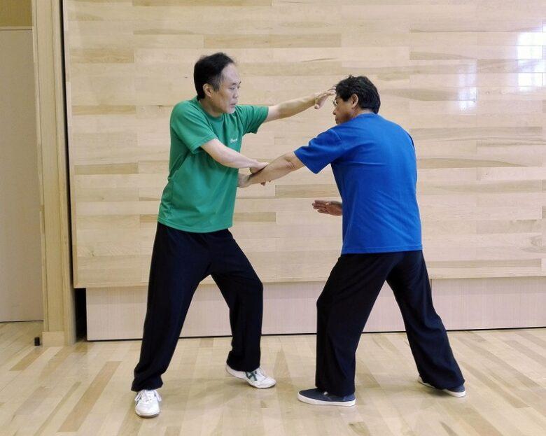 太極拳の単鞭の用法例の写真
