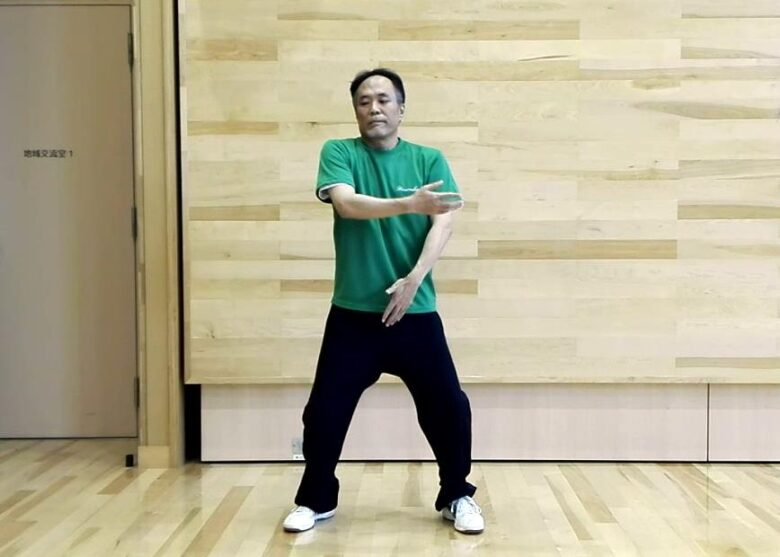 陳式太極拳 懶扎衣のポン勢の写真