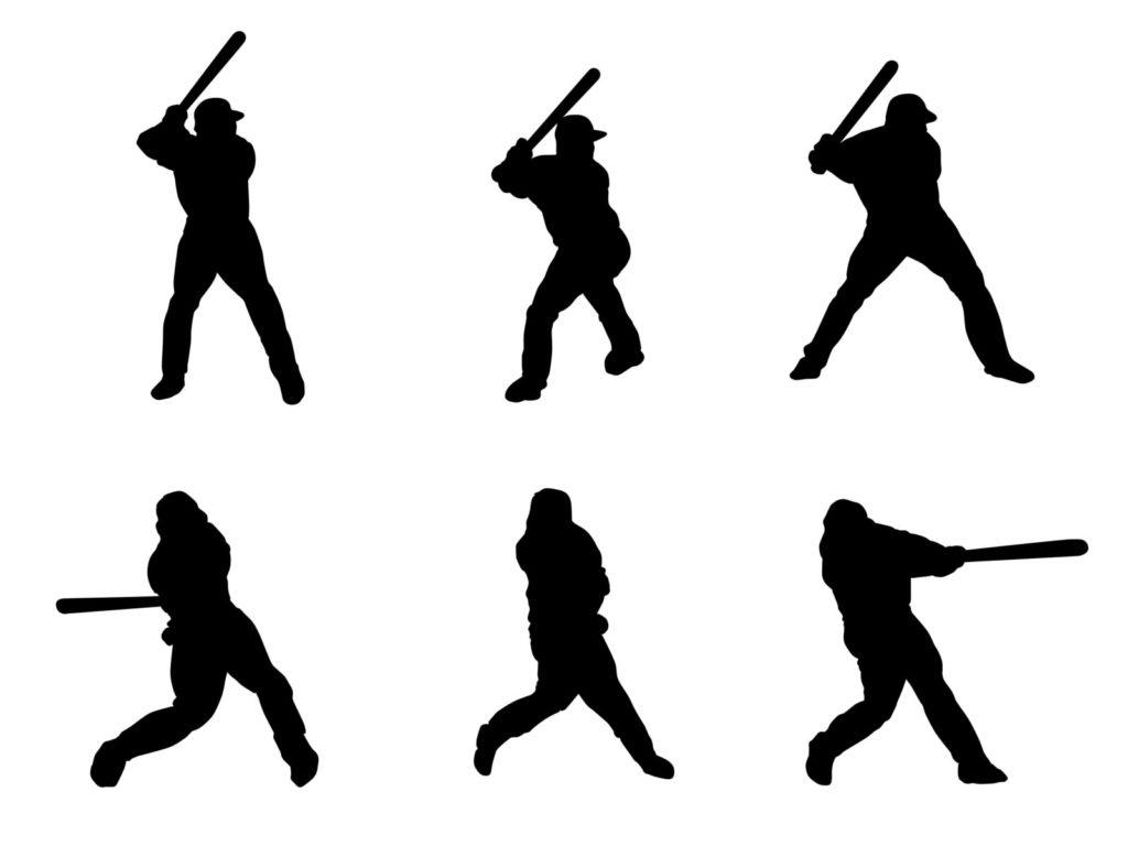 野球のバッティングのイラスト
