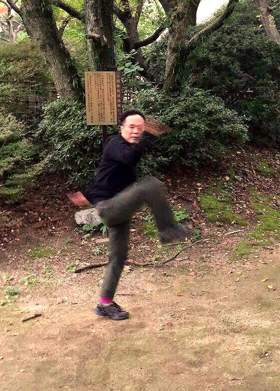 八卦掌の鷂子穿林(ようしせんりん)の写真