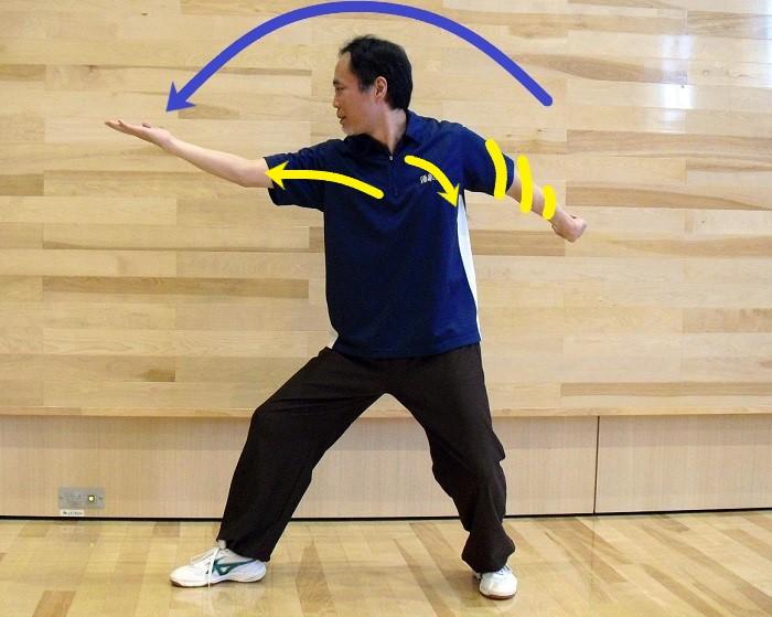 八卦掌の単圧掌の写真
