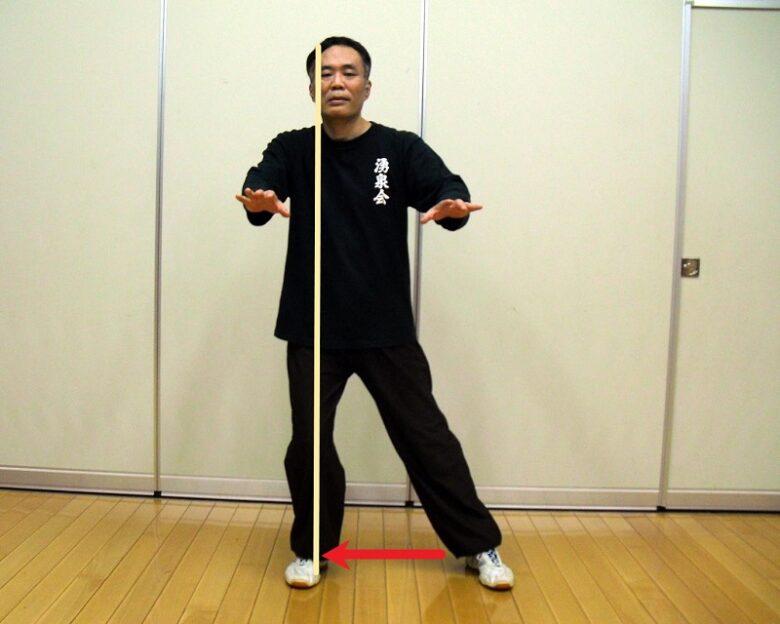太極拳の歩法練習 右単重の写真