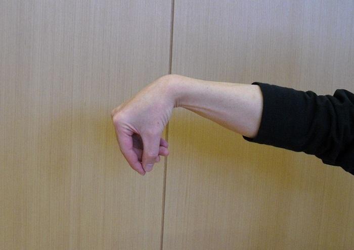 太極拳の勾手のアップ写真