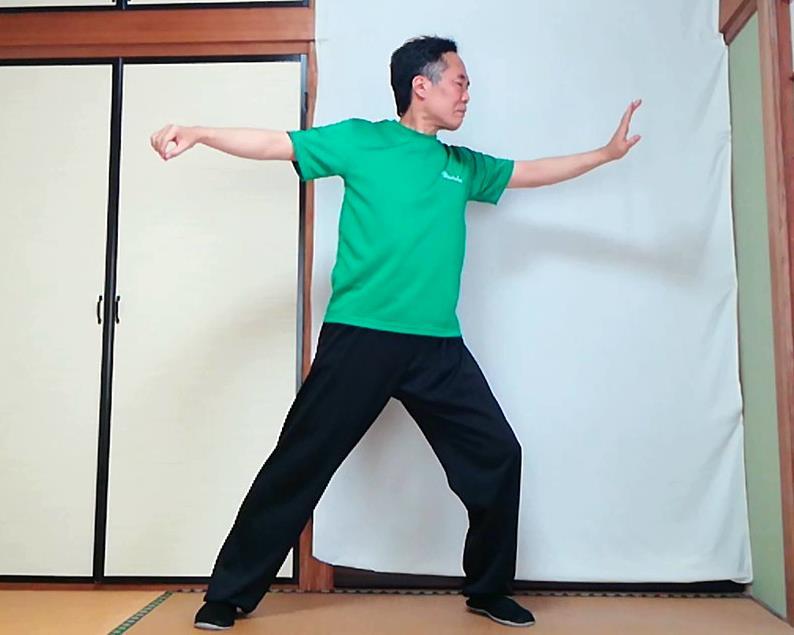 陳式太極拳 単鞭の落式の写真