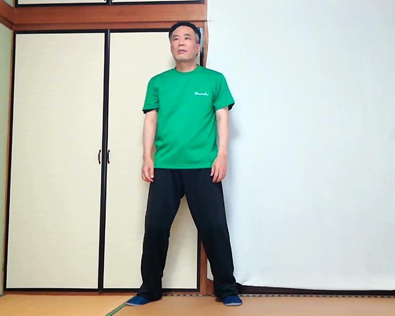 楊式太極拳 起勢 無極式の写真